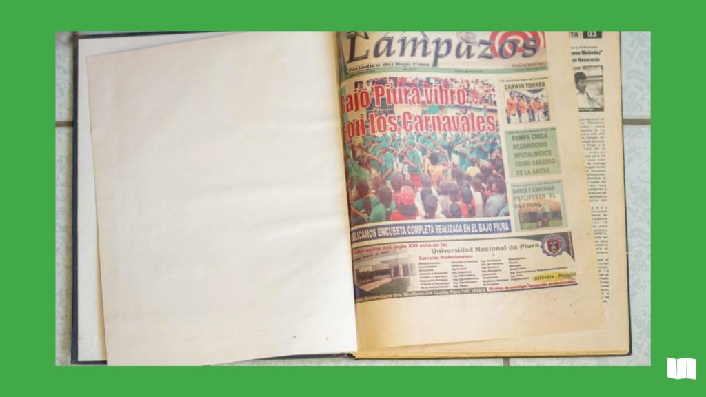 Portada de la primera edición escrita de Lampazos medio sechurano. Año 2006