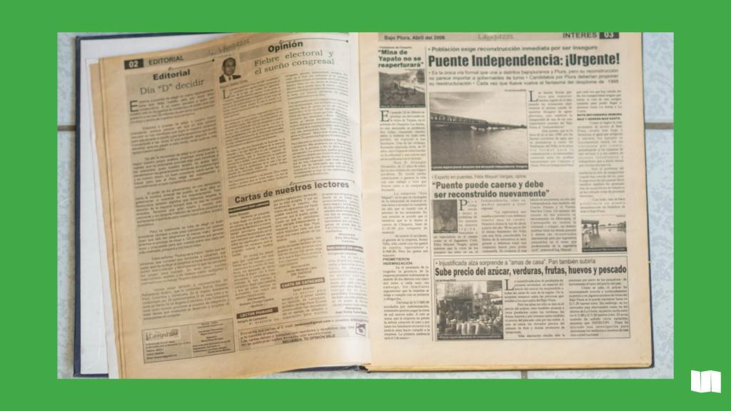 Primera edición escrita de Lampazos medio sechurano. Año 2006