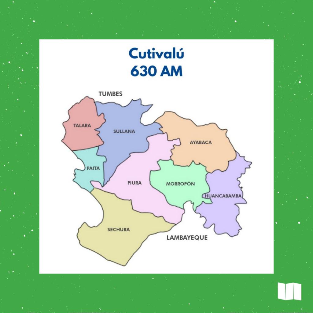 Mapa ilustrativo de Piura Región.